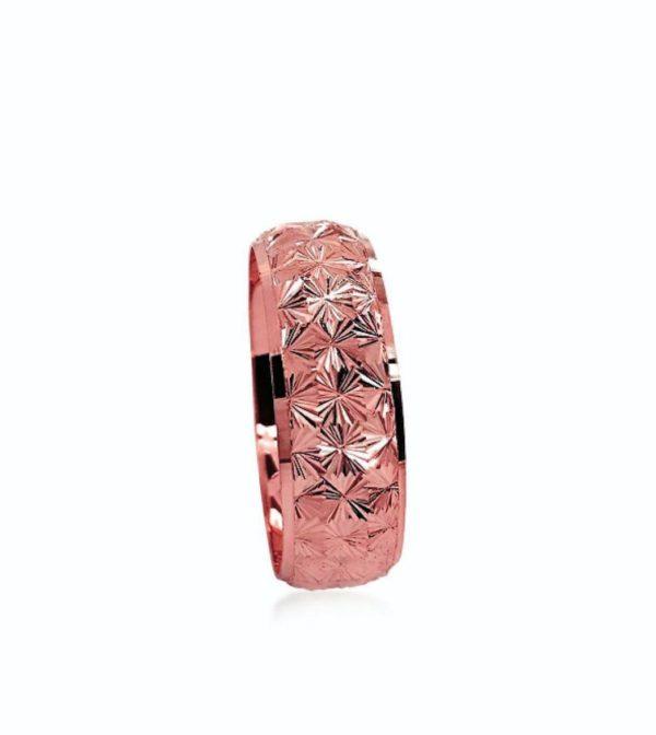wedding band ring №204 rose