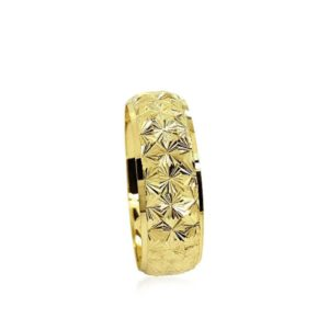 wedding band ring №204 yellow