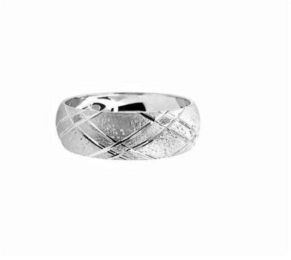 wedding band ring №210 white