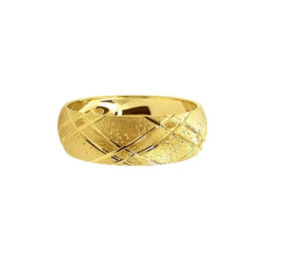 wedding band ring №210 yellow