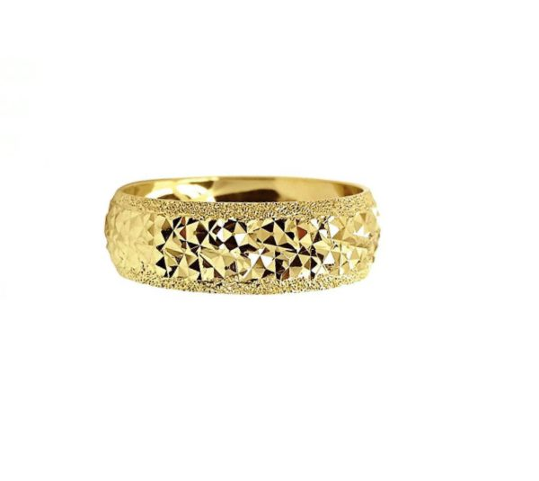 wedding band ring №211 yellow