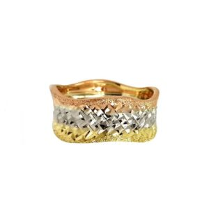 three colors wedding ring №300