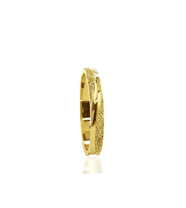 wedding band ring №100 yellow