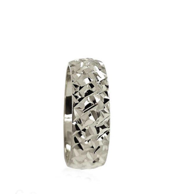 wedding band ring №203 white
