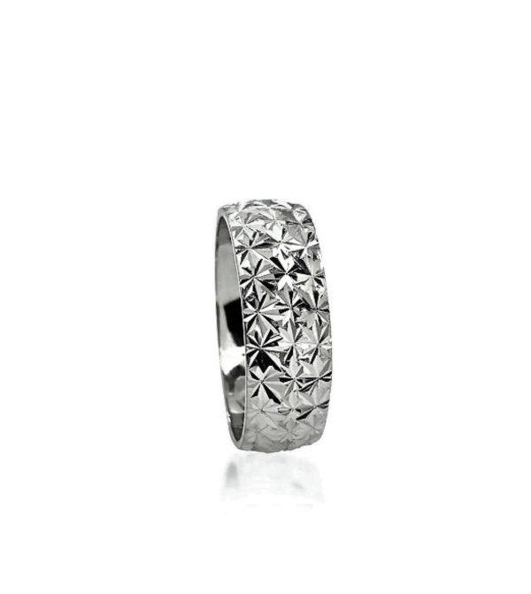 wedding band ring №205 white