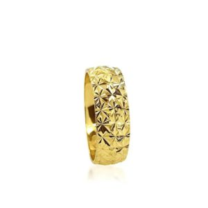 wedding band ring №205 yellow