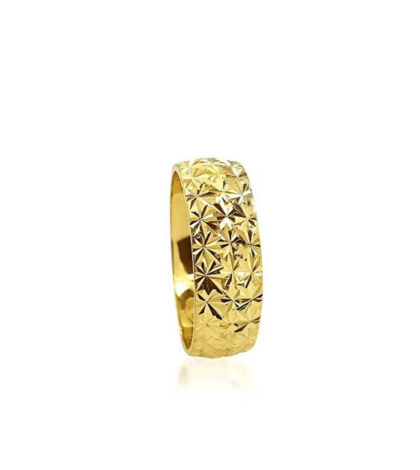 wedding band ring №205 yellow