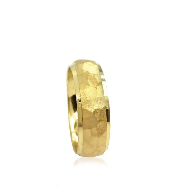 wedding band ring №206 yellow