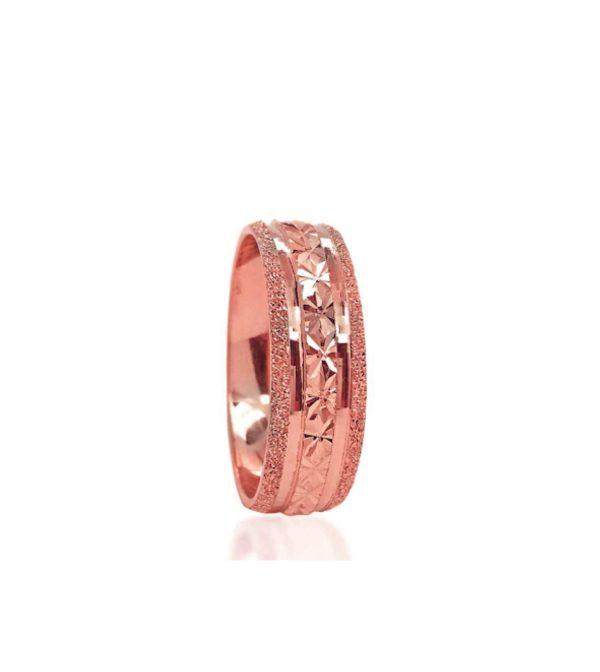 wedding band ring №207 rose
