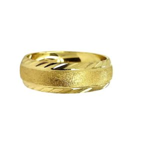 wedding band ring №208 yellow