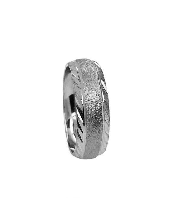 wedding band ring №208 white