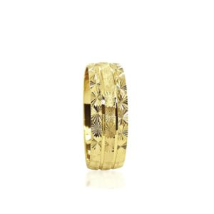 wedding band ring №209 yellow