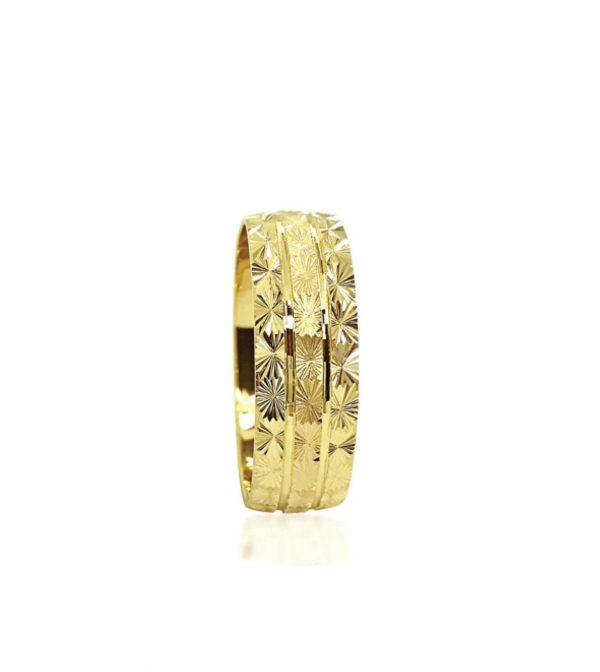 wedding band ring №209 yellow