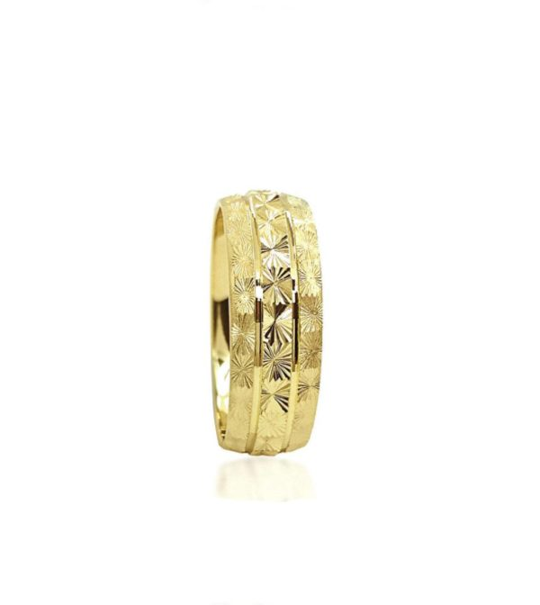 wedding band ring №212 yellow
