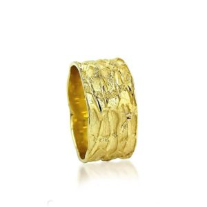 wedding band ring №300 yellow