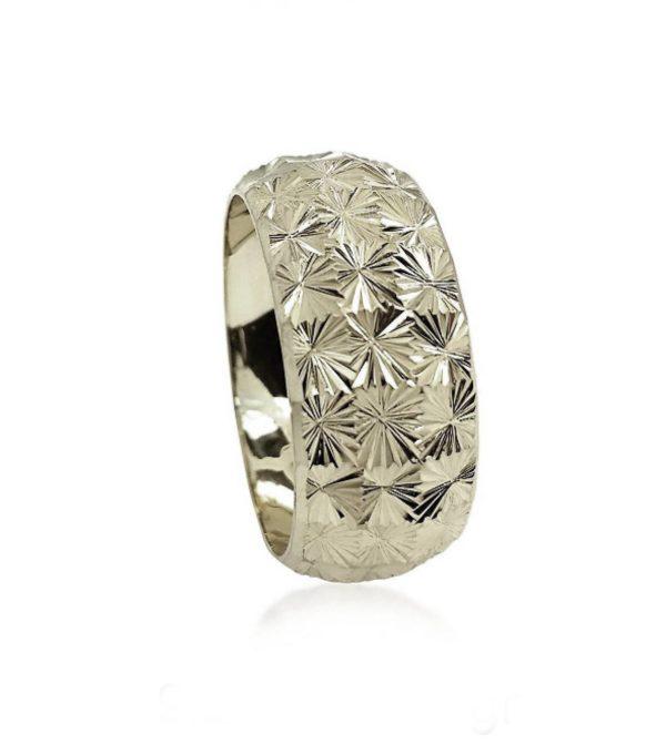 wedding band ring №301 white