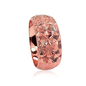 wedding band ring №301 rose
