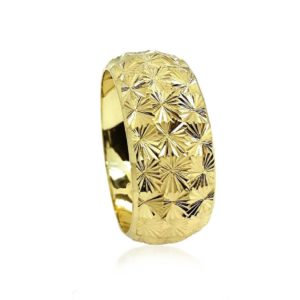 wedding band ring №301 yellow