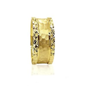 wedding band ring №305 yellow