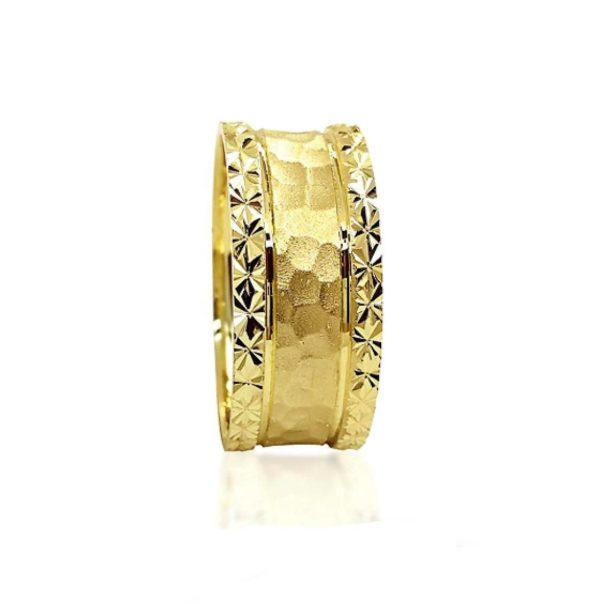 wedding band ring №305 yellow