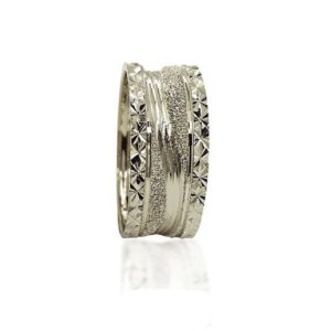 wedding band ring №306 white