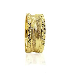 wedding band ring №306 yellow