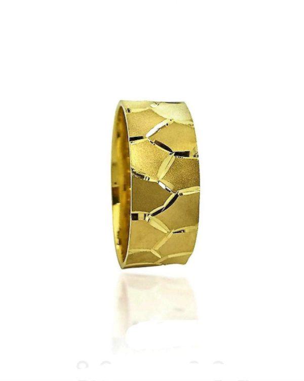 wedding band ring №307 yellow