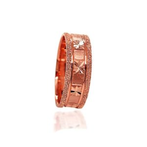 wedding band ring №308 rose