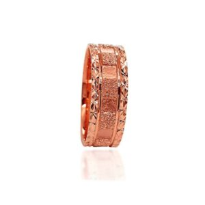 wedding band ring №309 rose