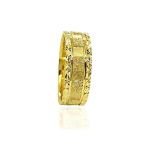 wedding band ring №309 yellow