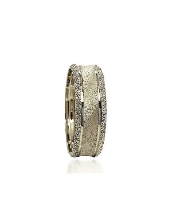 wedding band ring №311 white