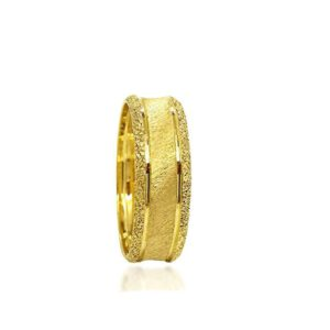 wedding band ring №311 yellow