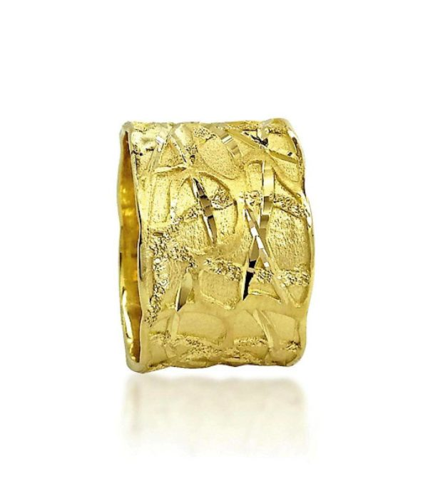 wedding band ring №400 yellow