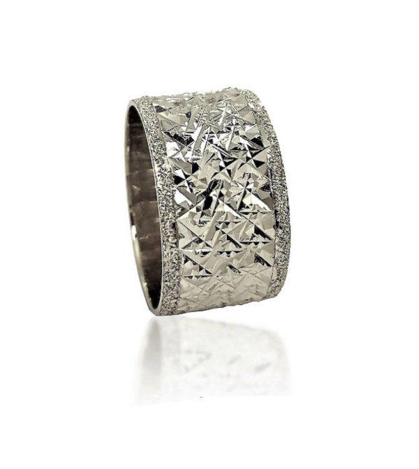 wedding band ring №401 white