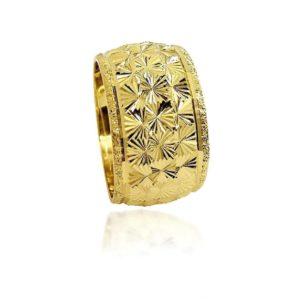 wedding band ring №402 yellow