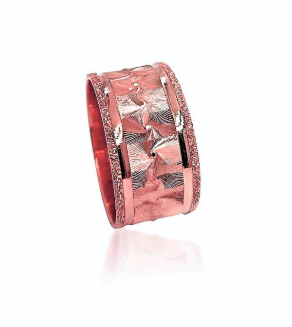 wedding band ring №403 rose