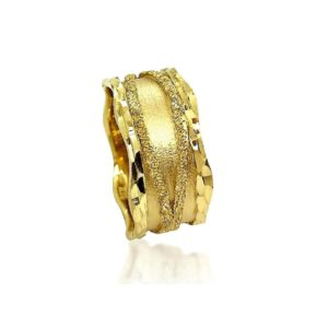 wedding band ring №408 yellow