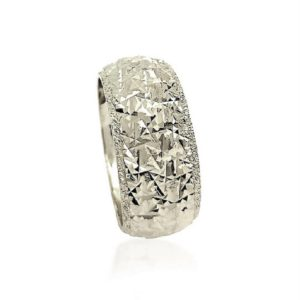 wedding band ring №409 white