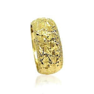 wedding band ring №409 yellow