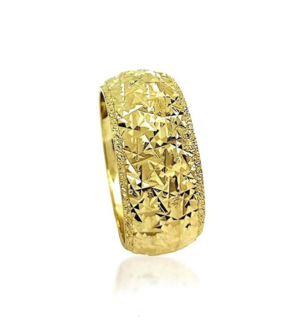 wedding band ring №409 yellow