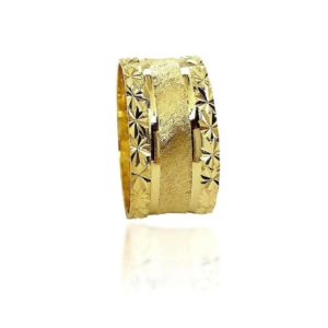 wedding band ring №411 yellow