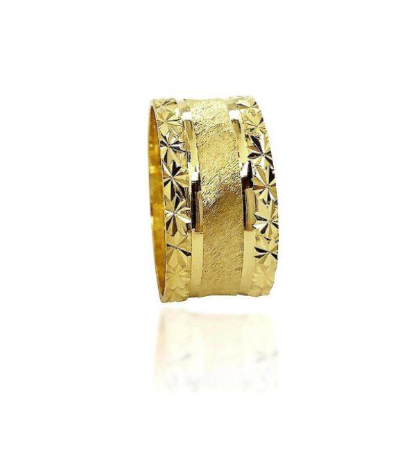 wedding band ring №411 yellow