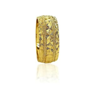 wedding band ring №412 yellow