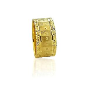 wedding band ring №413 yellow