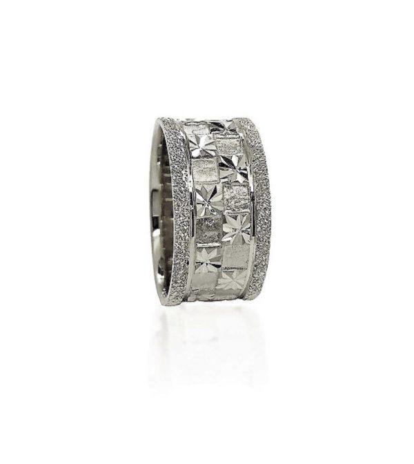 wedding band ring №419 white