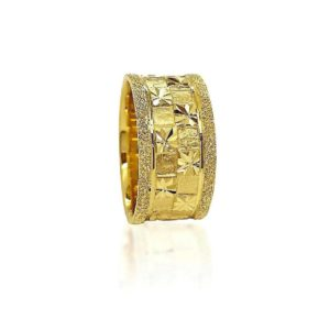 wedding band ring №419 yellow