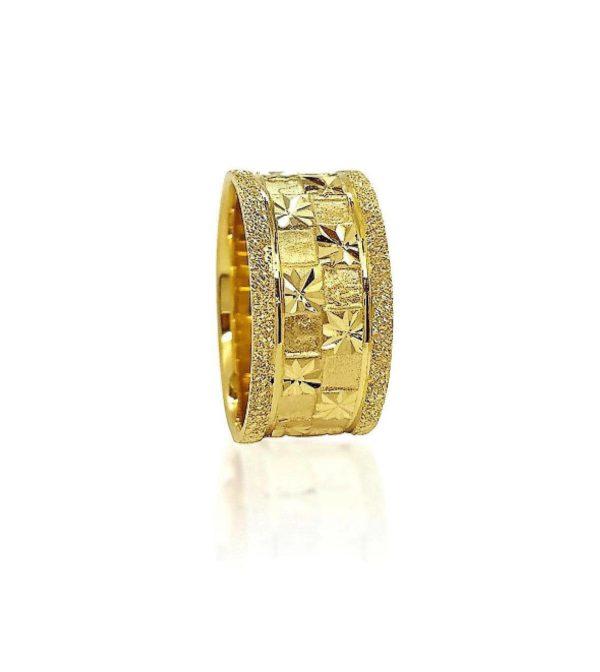 wedding band ring №419 yellow