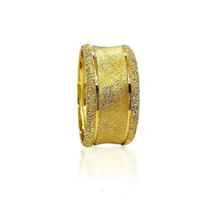 wedding band ring №420 yellow