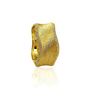 wedding band ring №421 yellow