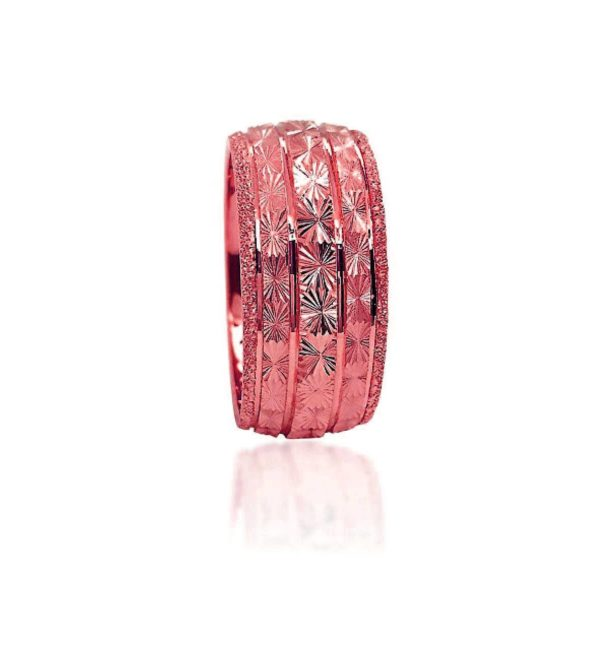 wedding band ring №423 rose